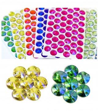 【丸型ガラスストーン】縫い付けビジュー ソーオン レオタード コスチューム 衣装製作