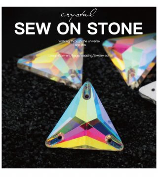【トライアングル ガラスストーン】縫い付けビジュー ソーオン レオタード コスチューム 三角ストーン