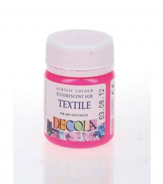 【DECOLA】( ネオン ローズ ) テキスタイル用アクリル絵の具 50 ml 布用絵の具
