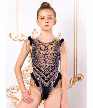 135-145cm [ロシア製中古] 新体操ジュニア競技用レオタード