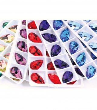 【しずく型 ガラスストーン】縫い付け ソーオン レオタード コスチューム 衣装製作