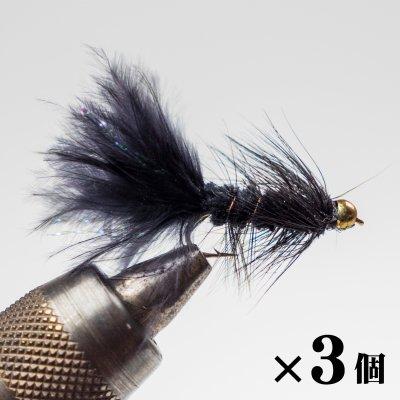 ビーズヘッド ウーリーバガー ブラック×3 (G-7)