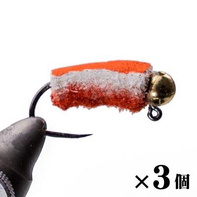 ペレットジグ#10 ブライトオレンジ×3
