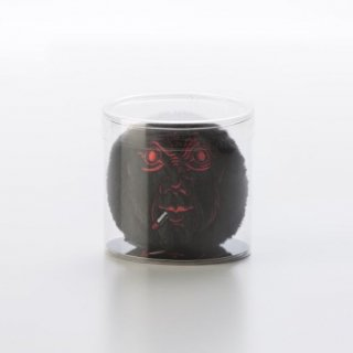 横尾忠則 アートマスコットチャーム「泣き笑い人生」:ブラック
