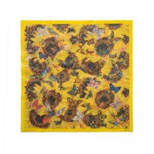 横尾美美 アートペーパーナプキン: Sunflowers, butterflies and birds