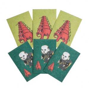 横尾忠則 アートぽち袋 2種6枚セット 象/福助