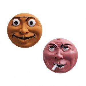 横尾忠則 アート立体バッジ 泣き笑い人生 2個セット オレンジ/ピンク