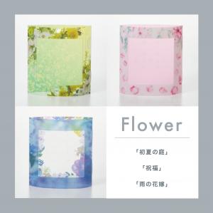 ピアスのガクブチ 3個セット Flower