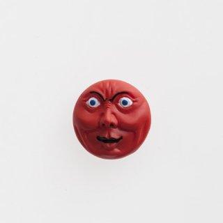 横尾忠則 アート立体バッジ「泣き笑い人生」:レッド