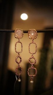 Daniela de Marchi Segreti Long Pieces(ピアス)OR1271 OTAG(シルバーゴールドカラー) Rosa.Q M様片方オーダー