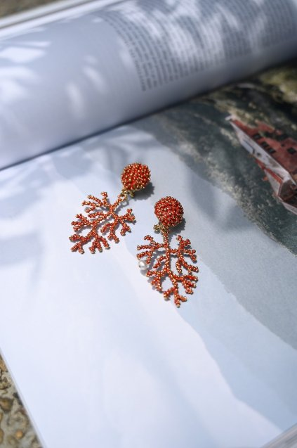 Coral Earrings/Pieces(イヤリング/ピアス)OR1072 OTRO
