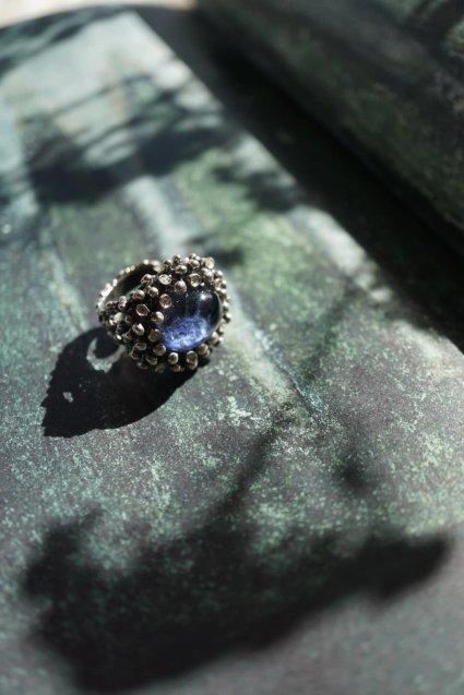 Diamond Ring (ダイヤモンドリング)[AN907]Silver Sodalite/Onix/Crystal】オーダー商品