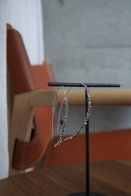 Diamond hook Pieces (ピアス)[OR1904 AGBR]シルバーブラック