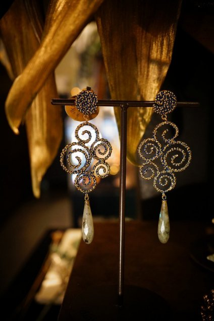 Ghirigori     Collection    Earrings イヤリングOR1188 OMI Labradorite オーダー商品