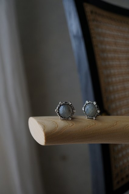 Honey Diamond  Eariings(イヤリング) [OR1923 AGBR Labradorite]