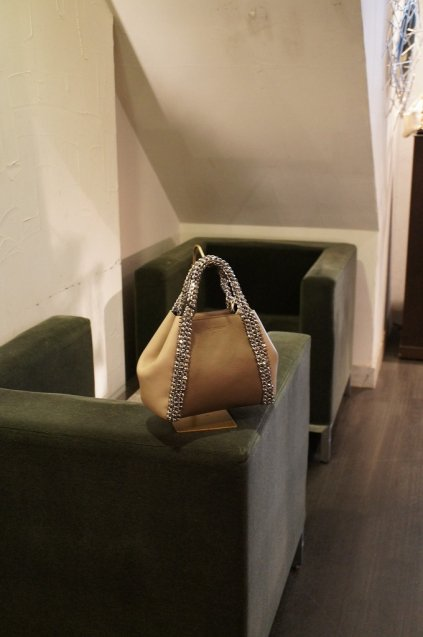 de Couture(デクチュール)2WAYチェーントートバッグSサイズ Brown/Beige