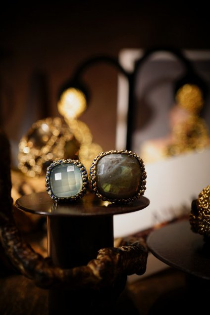 Segreti collection double stone Ring (リング)[AN157 OMI Labradorite/NewJadeオーダー商品