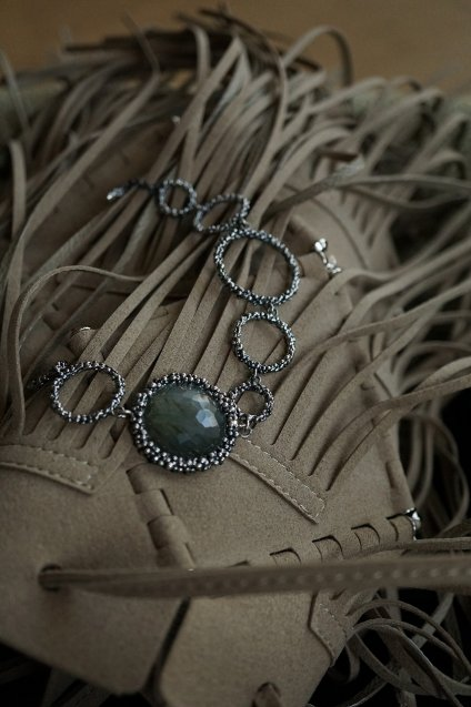 Bracelet with Stone(ブレスレット)BR3325 AGBR Labradorite