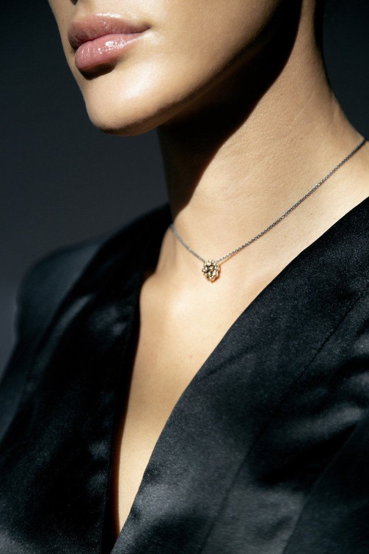 Diamond Pendant Necklace (ネックレス)[CL2907 AGBR/BZBR]Silver&Bronze