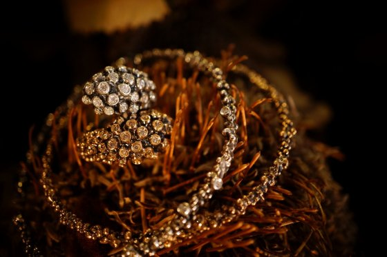 Diamond Ring (ダイヤモンドリング)[AN62 BRILL]Silver/Bronze 】Freesize