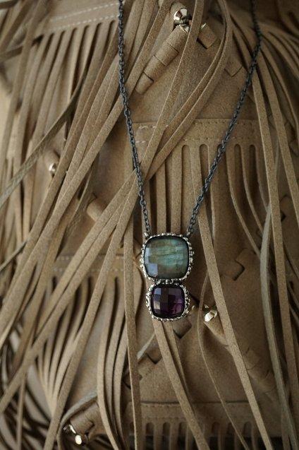 Scacco Collection Necklace (ネックレス)CL5593 AGBR Labnradorite/Amesist
