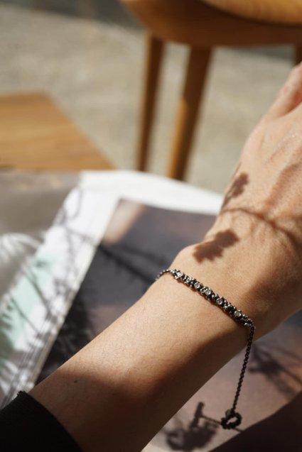 Diamond Bracelet(ブレスレット)BR3903 AGBRシルバーブラック