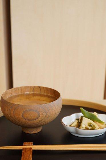 我戸幹男 AEKA Collection round bowl L Smoke gray