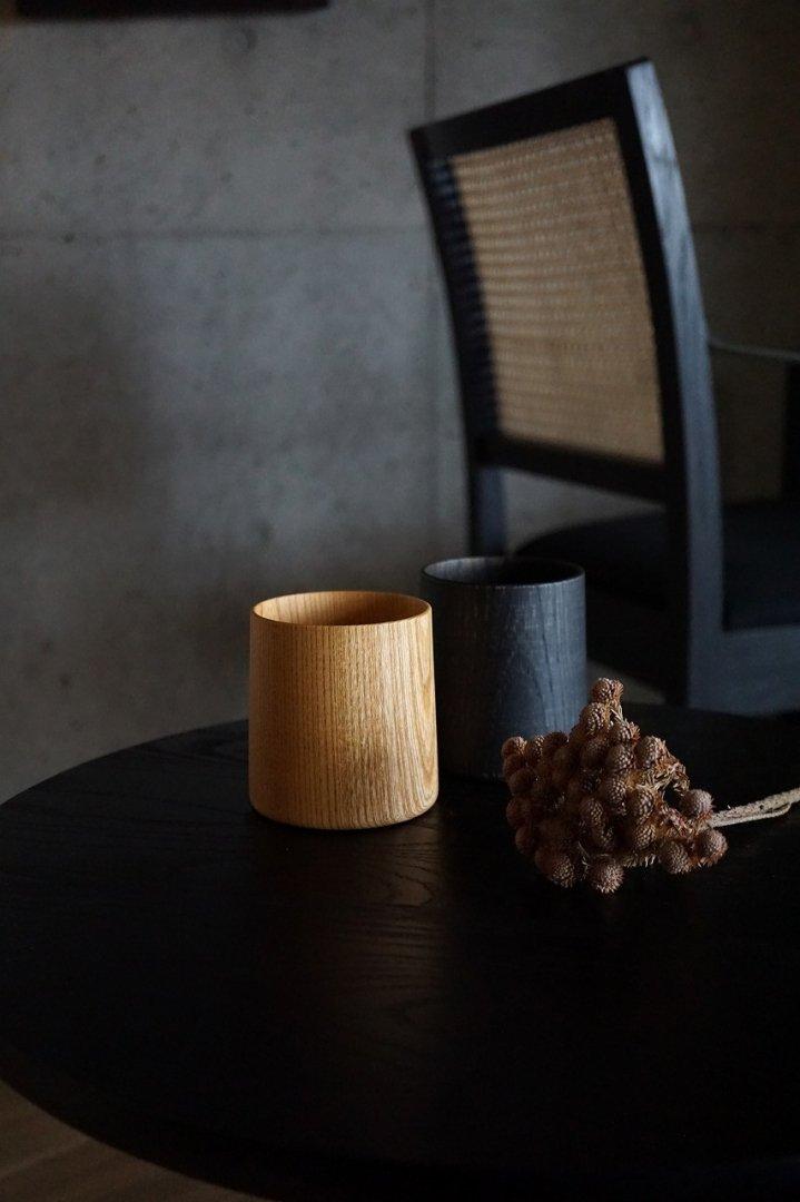 我戸幹男 SAIBI Collection Wooden Cup M Black