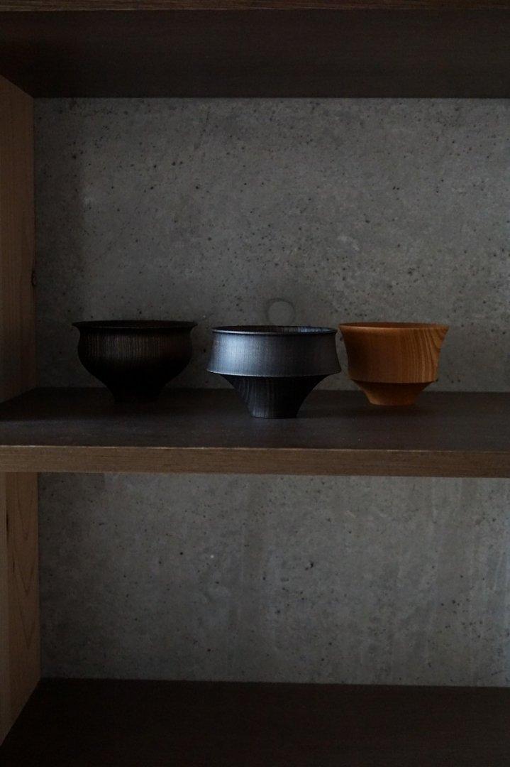 我戸幹男 TSUMUGI Collection 汁椀 富士 Black