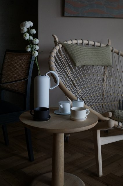 2016/arita Coffee Cup&Saucer(Set) BG/001,005 White Sprinkle
