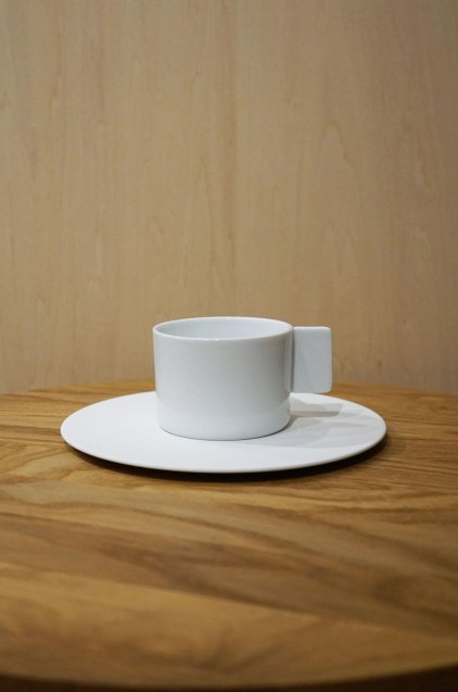 1616/arita S&B CoffeeCup&Saucer Set White