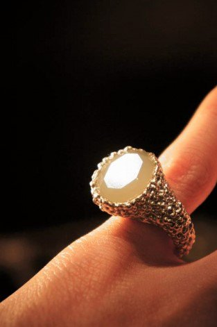 Ring Pitagora with Stone (リング)[AN78 OTAG NewJade]Freesize オーダー商品
