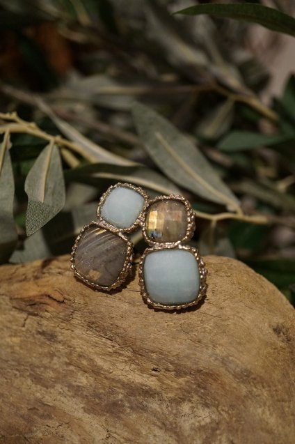 Scacco(チェス)Collection Earrings(イヤリング)[OR1303 OTAG Amazonite/Labradorite]