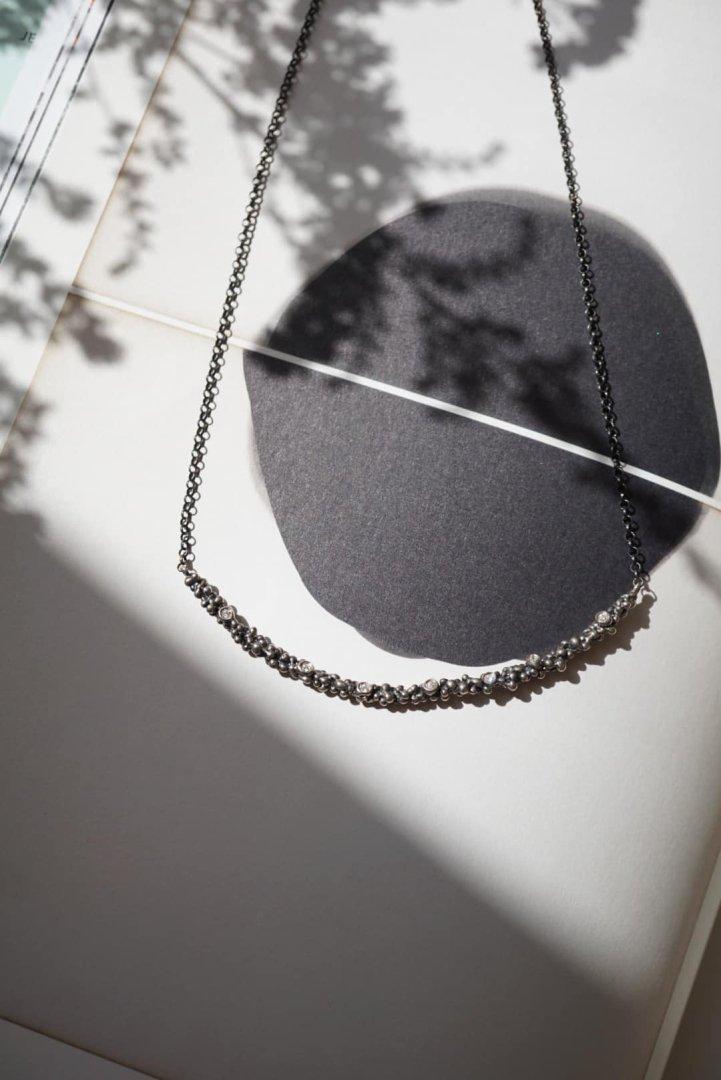 Diamond Necklace (ネックレス)Short[CL2904 AGBR]シルバーブラック