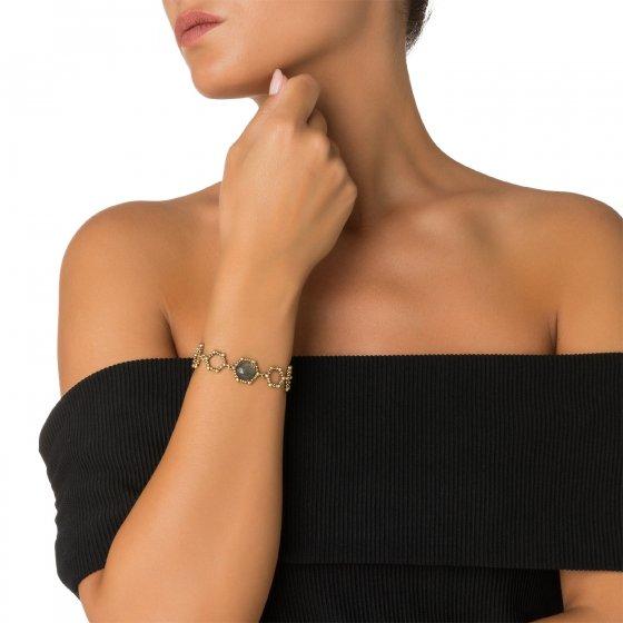 Honey Collection Bracelet with Stone(ブレスレット)BR 3112 OTBR Labradrite オーダー商品