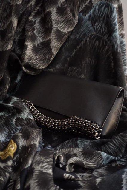 de Couture(デクチュール)レザークラッチバッグ 3WAY Black