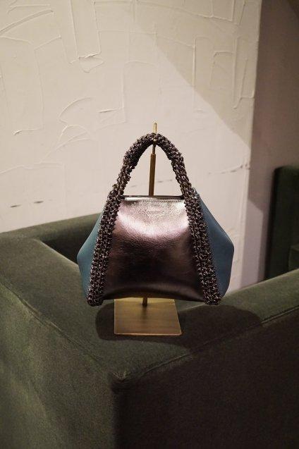 de Couture(デクチュール)2WAYチェーントートバッグSサイズ  Metallic Silver/Blue
