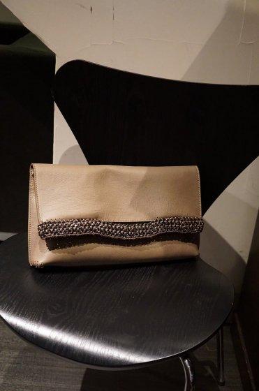 de Couture(デクチュール)レザークラッチバッグL 3WAY Brown