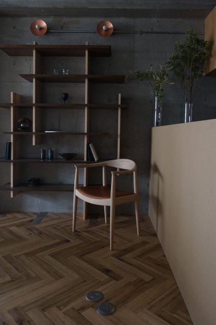 PP mobler Hans J Wegner pp701 arm chair Ash材 / ソープ仕上げ 座面Grey(Vacona Marble)