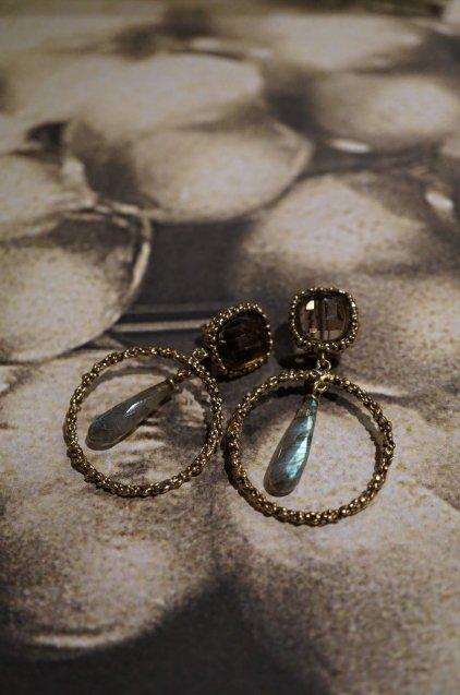 Charlotte Collection Pieces (ピアス) OR1326 OTBR Labradorite/Smoky.Q