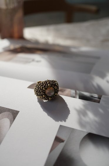 SKIN Collection Ring(リング) AN187 OTBR Labradorite Freesize