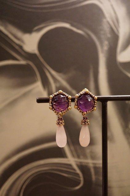 Honey Collection Earrings (イヤリング) OR1336 OTVIO Amesist/Rosa.Q