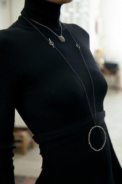 3WAY Diamond Necklace (ネックレス)[CL2901 AGBR]シルバーブラック