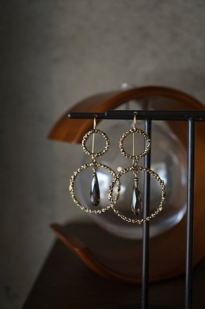 Charlotte Collection Pieces (ピアス) OR1322 OTBR Smoky.Q
