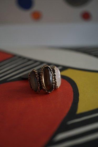 ZEN collection Ring(リング)[AN158 OTBR Smoky.Q/Labradorite/Rosa.Q]
