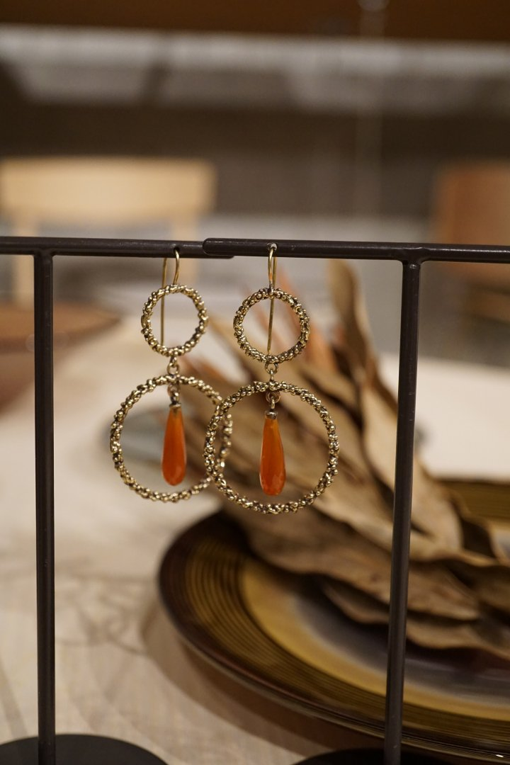 Charlotte Collection Pieces (ピアス) OR1322 OTBR Corniola