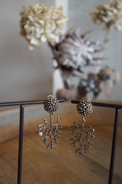Coral Pieces(ピアス)[OR1072 OTBR】Brown
