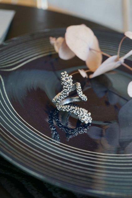 Tangle Snake Ring (リング)[AN68 AGBR]シルバーブラック FreeSize