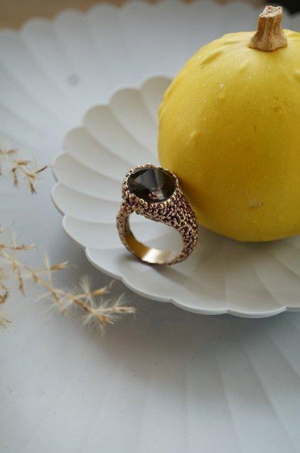 Intramontabili Ring(リング) AN78 OTVIO Smoky.Q Freesize