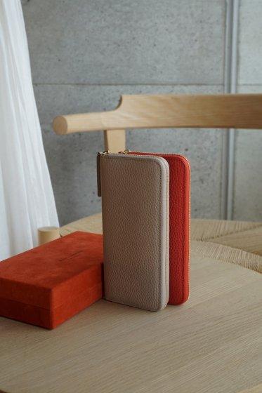 【期間限定販売】JUNYA WARASHINA(ジュンヤ ワラシナ) Wallet(ZIP) Lacina mini  color:SAND